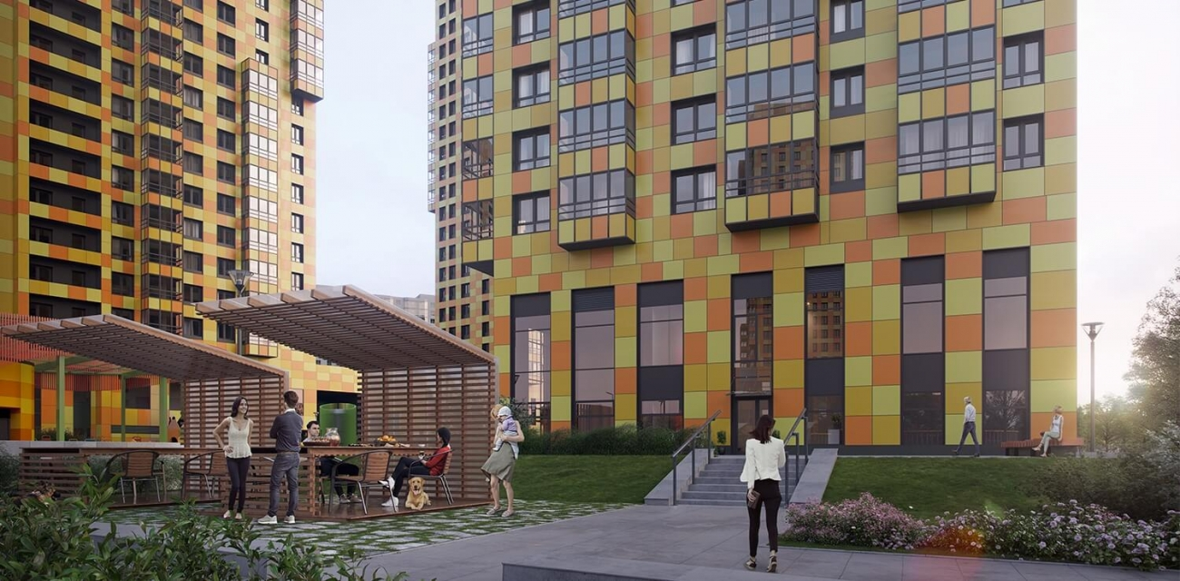 4c19dcaec19b1 ... респектабельные соседи и невысокая плотность населения: рядом только  небольшой квартал элитных таун‐хаусов и престижный малоэтажный жилой  комплекс.